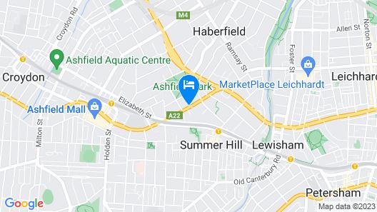 Ashfield Motor Inn Map