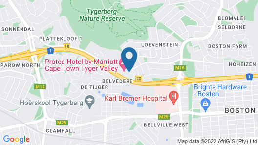 Protea Hotel by Marriott Cape Town Tyger Valley Map