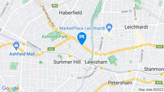 Marco Polo Motor Inn Sydney Map