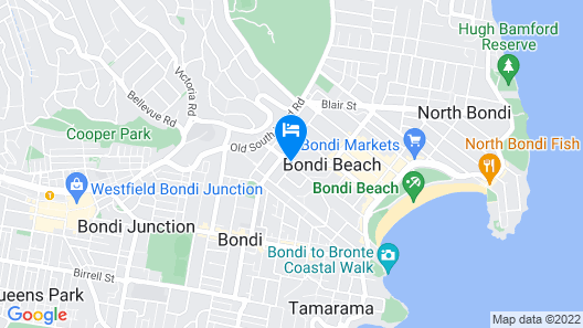 Ultimate Apartments Bondi Beach Map