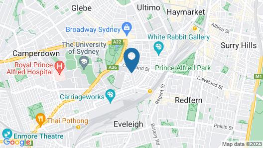 Adina Apartment Hotel Sydney Chippendale Map