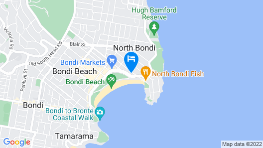 Bondi Beachfront (I719) Map
