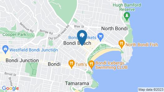 Adina Apartment Hotel Bondi Beach Sydney Map