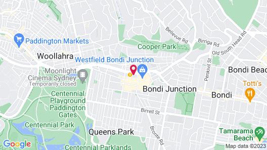 Meriton Suites Bondi Junction Map