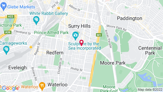 Crown Hotel Surry Hills Map