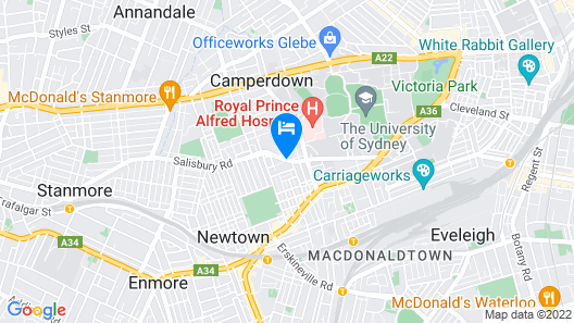 Atelier Serviced Apartments Map