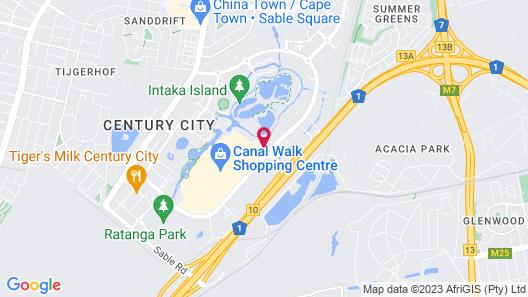 Century City Luxury Apartments Map