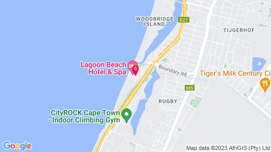 Lagoon Beach Hotel & Spa Map