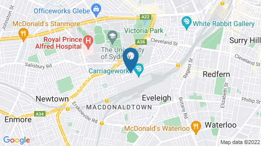 Abercrombie Student Accommodation Map