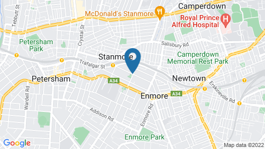 Cambridge Lodge - Hostel Map