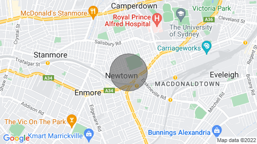 Sun-drenched 1 Bed Studio Apt Newtown Parking Map