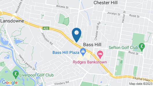 Banksia Motel Map