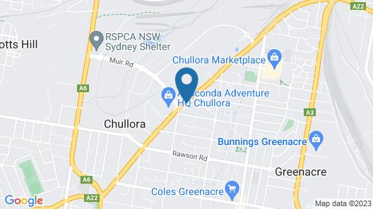 Palms Hotel Motel Chullora Map