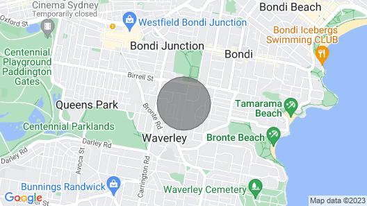Bronte Victorian Terrace Close to Bondi Beach! Map