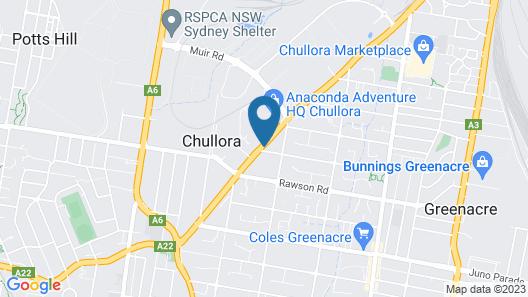 Bankstown Motel 10 Map