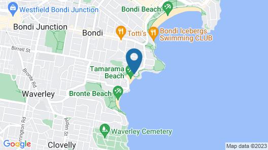 Tamarama Apartments Map