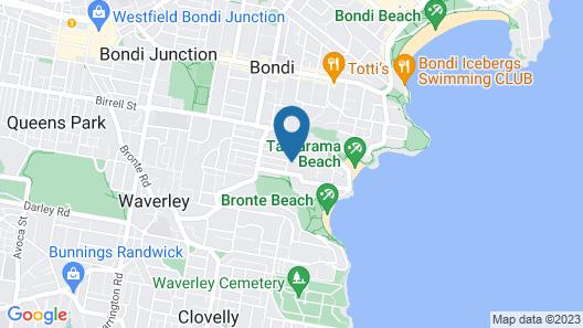 Bronte Beach Cottage Map