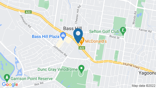 Rydges Bankstown Map