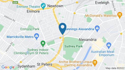 Sydney Park Hotel Map
