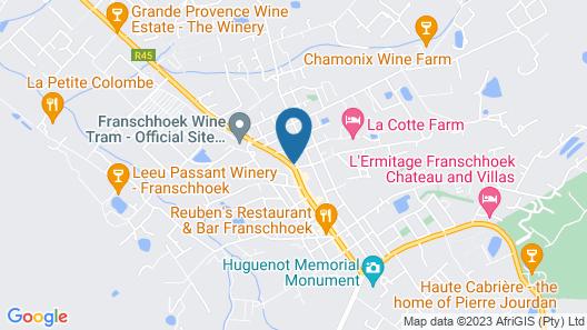 Protea Hotel by Marriott Franschhoek Map