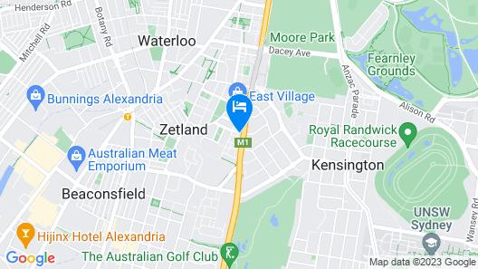 Meriton Suites Zetland Map