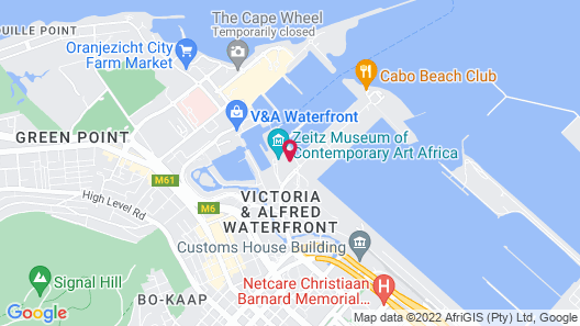 Radisson RED Hotel V&A Waterfront Cape Town Map