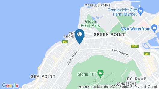 Green Point Self Catering Studio Map