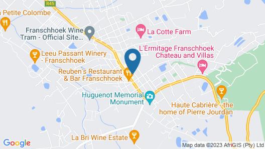 Maison Du Cap - Franschhoek Map