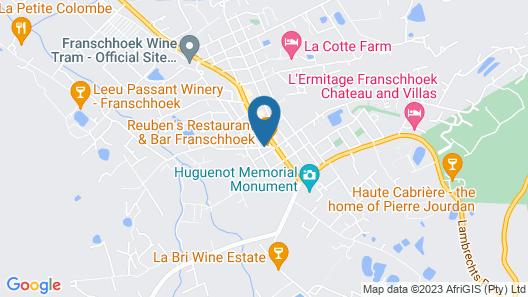 Franschhoek Boutique Hotel Map