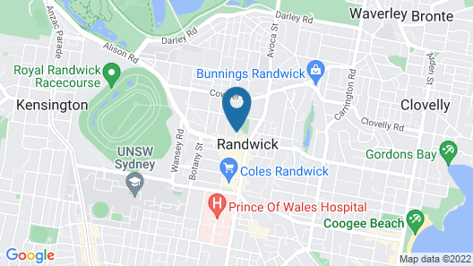 Avonmore on the Park Boutique Hotel Map