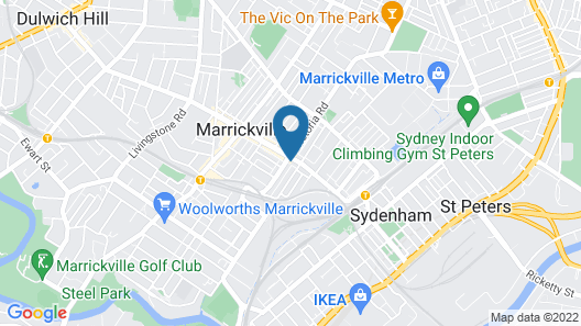 One Bedroom Apartment in Marrickville Map