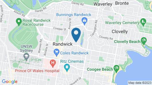 St Marks Randwick Map