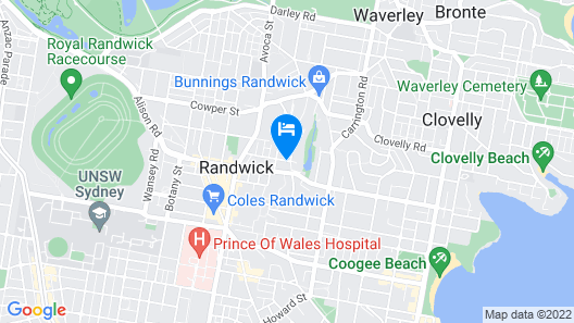 St Marks Randwick Map