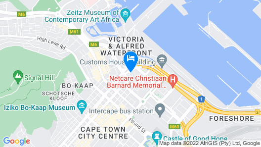 Southern Sun Waterfront Cape Town Map
