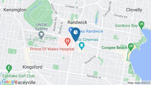 High Cross Randwick by Sydney Lodges Map