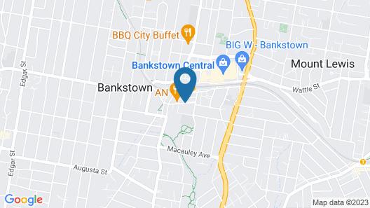 Travelodge Hotel Bankstown Sydney Map