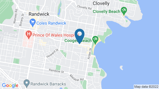 Pod Bed Coogee Beachside Map