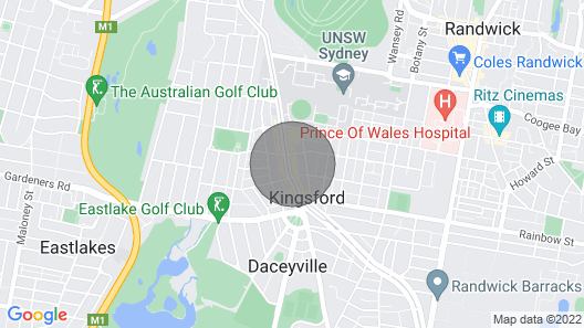 2 BR Loft Apartment With Parking Kingsford Walking Distance to University of NSW Map