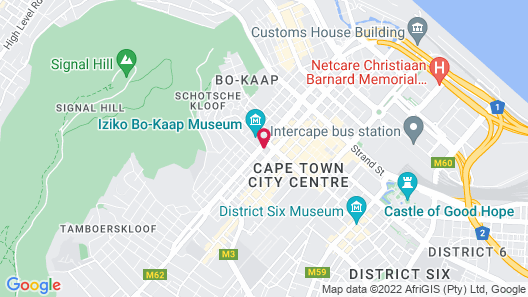 Cape Town Lodge Hotel Map
