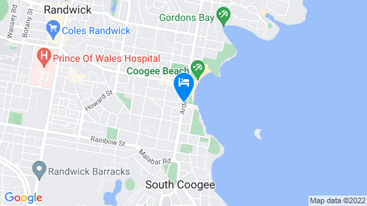 Crowne Plaza Sydney Coogee Beach Map