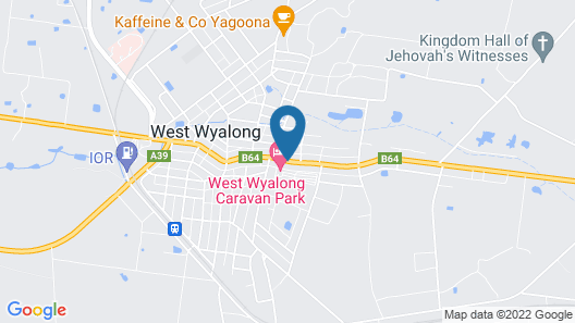 West Wyalong Caravan Park Map