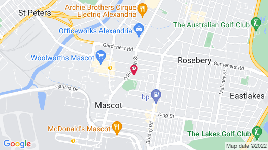 Meriton Suites Coward Street, Mascot Map