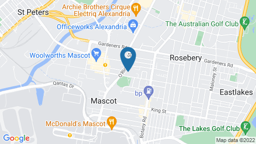 Meriton Suites Coward Street, Mascot Map