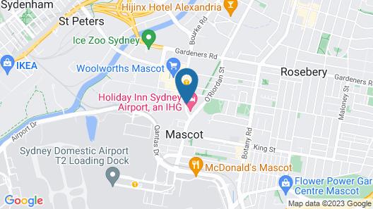 Adina Apartment Hotel Sydney Airport Map