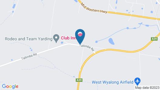 Club Inn Motel Map