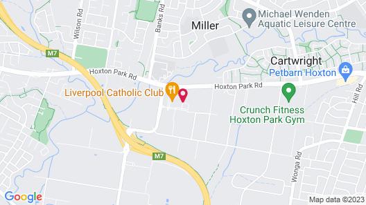 Mercure Sydney Liverpool Map