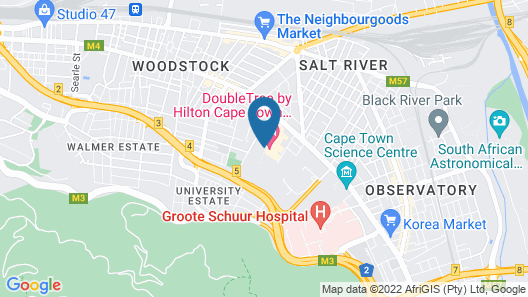 DoubleTree by Hilton Hotel Cape Town - Upper Eastside Map