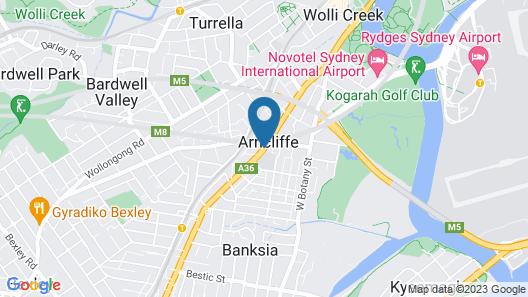 Airport Hotel Sydney Map
