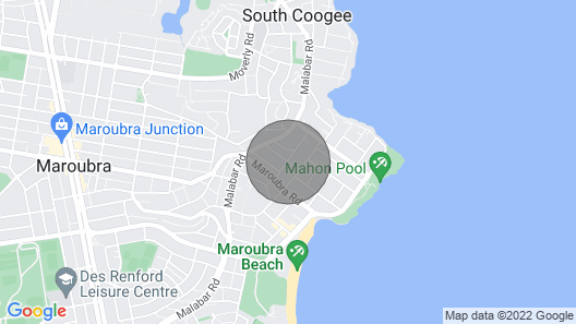 Bright Artist Apartment in Maroubra Map