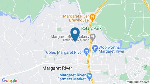 Margaret River Bungalows Map